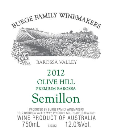 2012 Olive Hill Premium Semillon