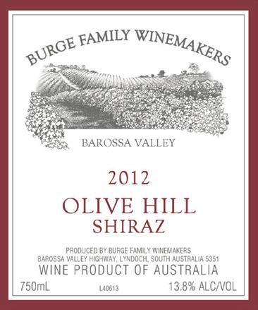 2012 Olive Hill Shiraz