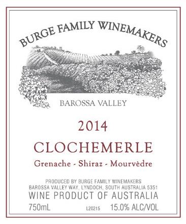 2014 'Clochermerle' Grenache Shiraz Mourvedre